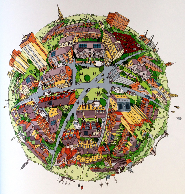 A Map of the World - Planet Bristol door Andy Council