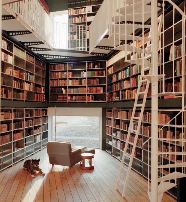Prachtige boekenwand