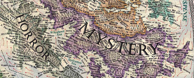Map of Literary Genres by Martin Vargic